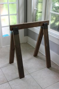 Instructions for Building a Stylish DIY Sawhorse Table for ...