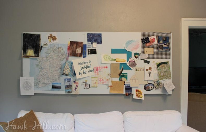 my real art studio idea pinboard 5