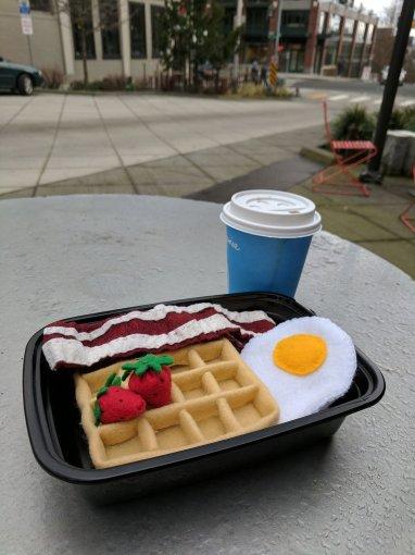 felt food waffle DIY result