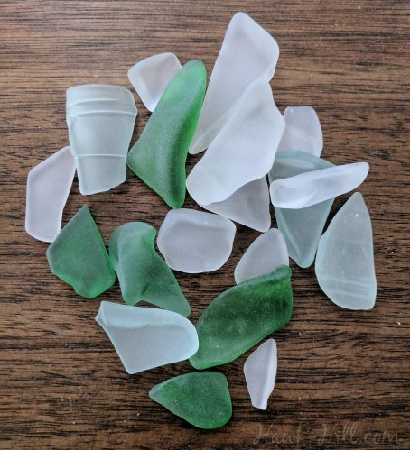 homemade sea glass made from reclaimed recycling