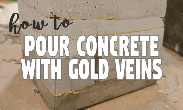 Cement Art: How to Create Gold Veins in Poured Concrete