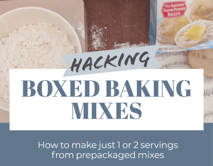 Boxed baking mix hack for cooking for 1