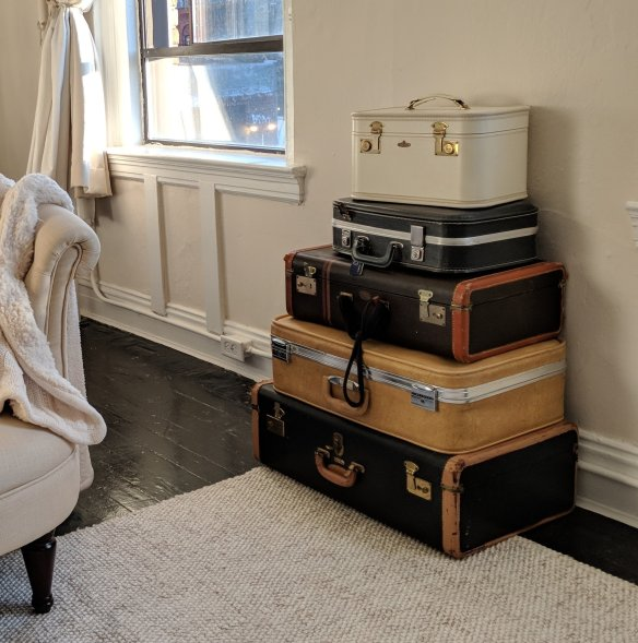 suitcase storage for art supplies