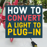 DIY: How to Turn a Hardwired Light Fixture (like a Chandelier) Into a Lamp with Plug