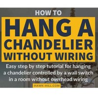 How to Hang a Chandelier in a Room without Wiring for an Overhead Light