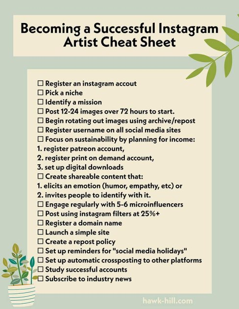 Download this PDF of instagram-artist marketing musts