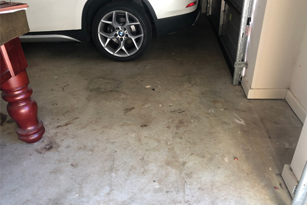 Oil-Stained Garage floor