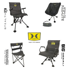 High Chair Deer Stand Hip Replacement Hawk Offers New Line Of Blind Chairs Treestands
