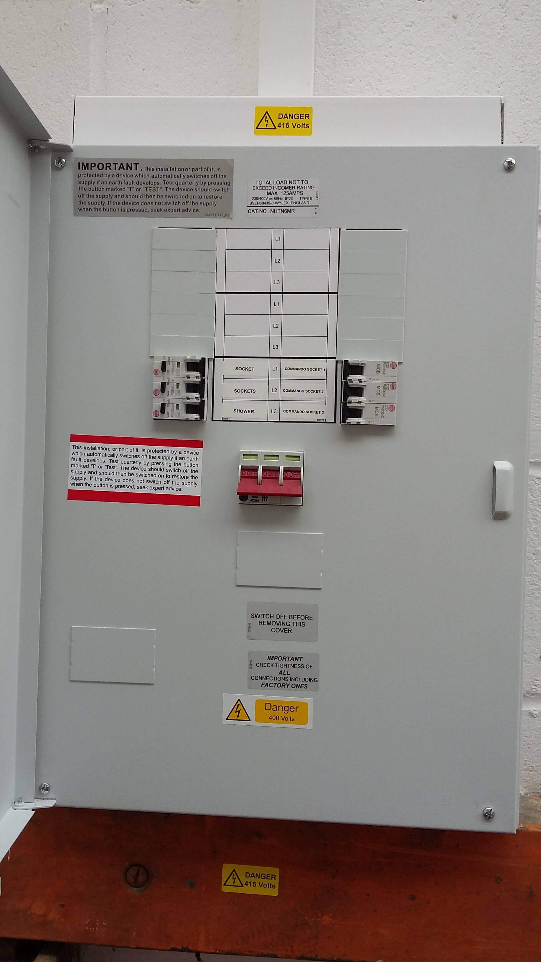 hight resolution of contractors replace electrical fuse box in a essex school