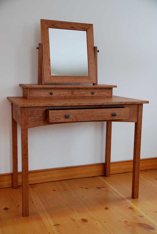 mission dressing table vanity from vermont