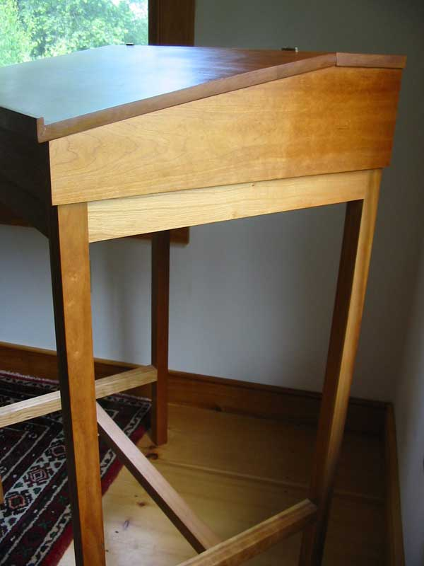 Cherry StandUp Writing Desk  Hardwood Shaker Desk  Made
