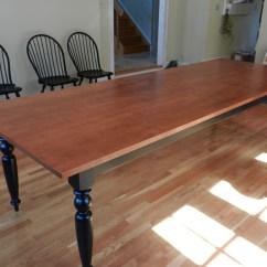 Maple Kitchen Table Rug Tiger French Farmhouse Dining Custom Handmade In Vermont Turned Legs 0189 800w