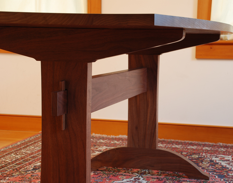 Handmade Shaker Walnut Trestle Table  Vermont Hardwood