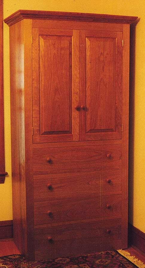 Cherry Armoire Entertainment Center  Handmade in Vermont