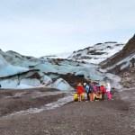 Hiking on Solheimajokull Glacier in Iceland