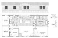 4 Bedroom 3 Bathroom Mobile Home Floor Plans