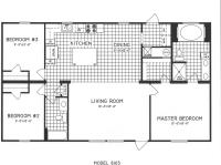3 Bedroom Floor Plan: C-8103 - Hawks Homes | Manufactured ...