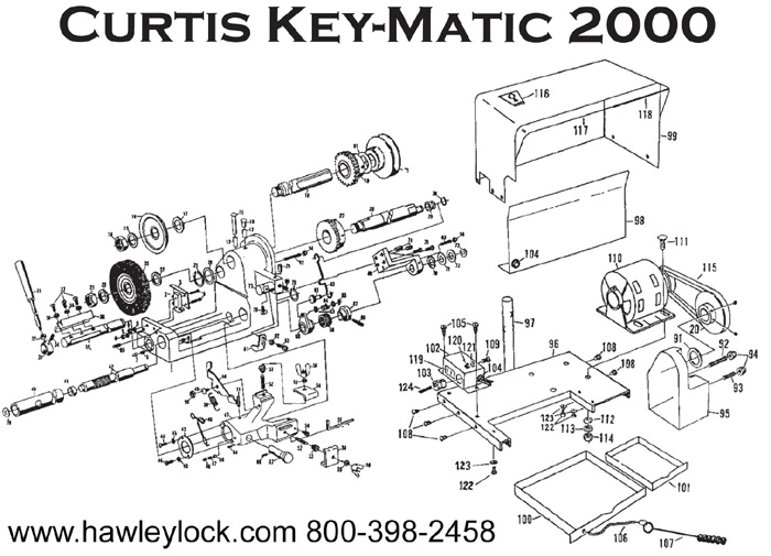 Hawley Lock Supply: Curtis 2000 & 3000 key machine parts