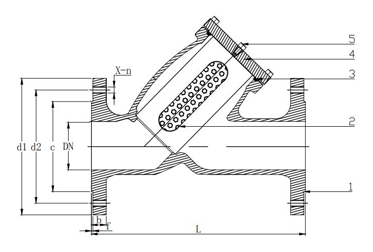 German standard Y type filter