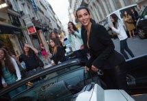 Kim Kardashian Arrives Ferdi Restaurant In Paris