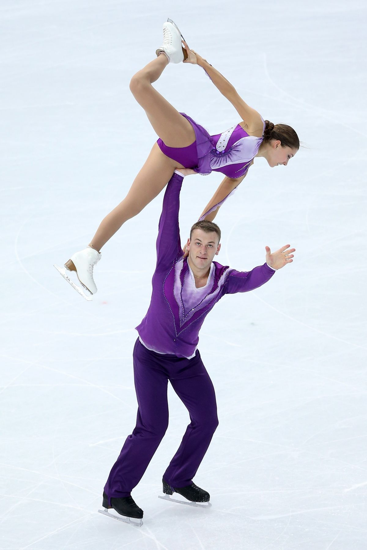 Andrea Davidovich And Evgeni Krasnopolski At Winter Olympics In Sochi Hawtcelebs
