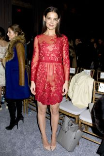 Katie Holmes Fashion Show
