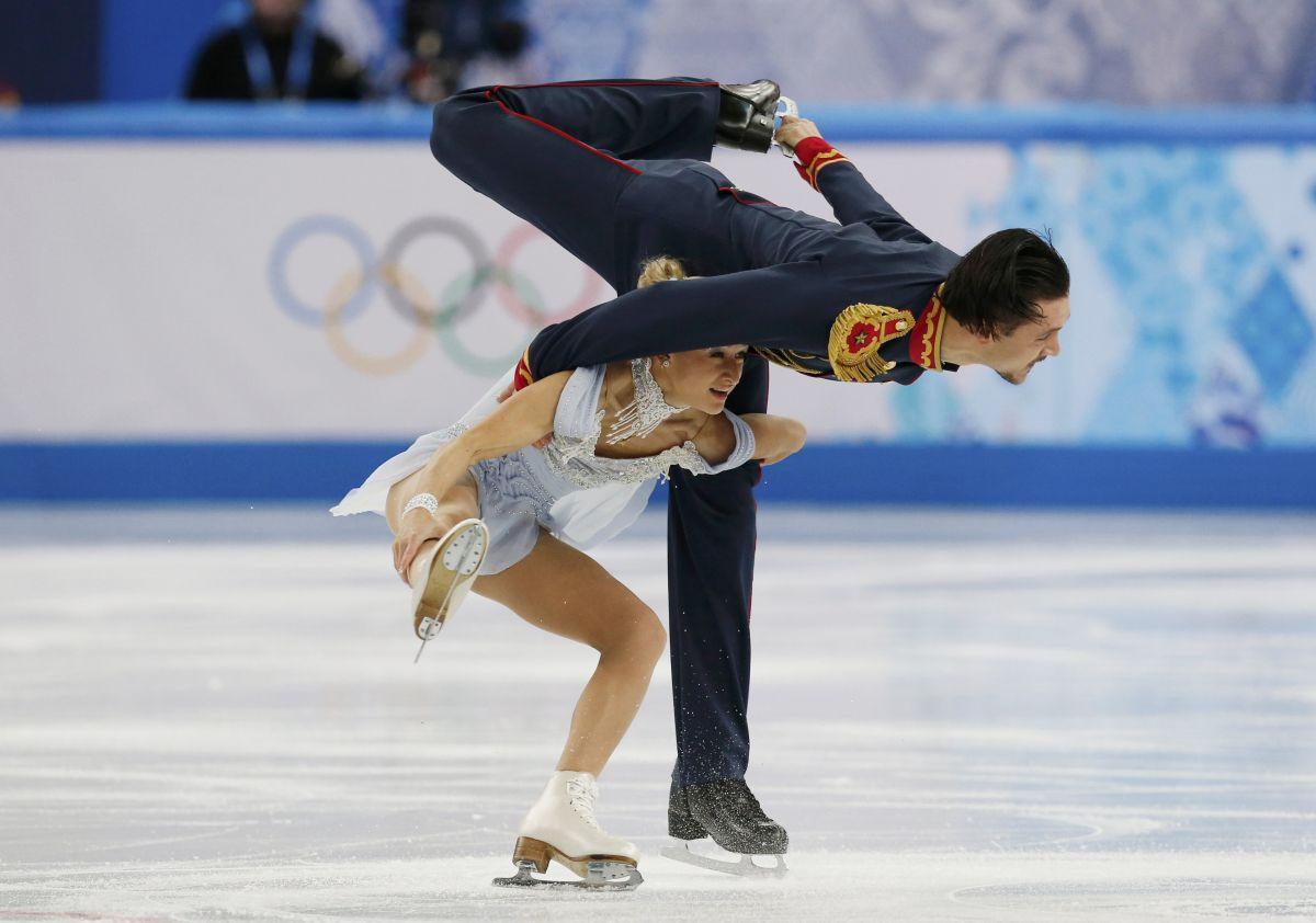 Tatiana Volosozhar And Maxim Trankov At Winter Olympics In Sochi