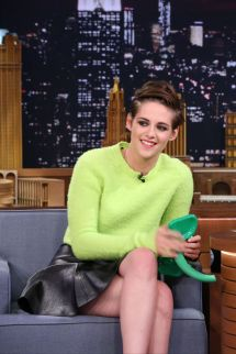 Kristen Stewart with Jimmy Fallon