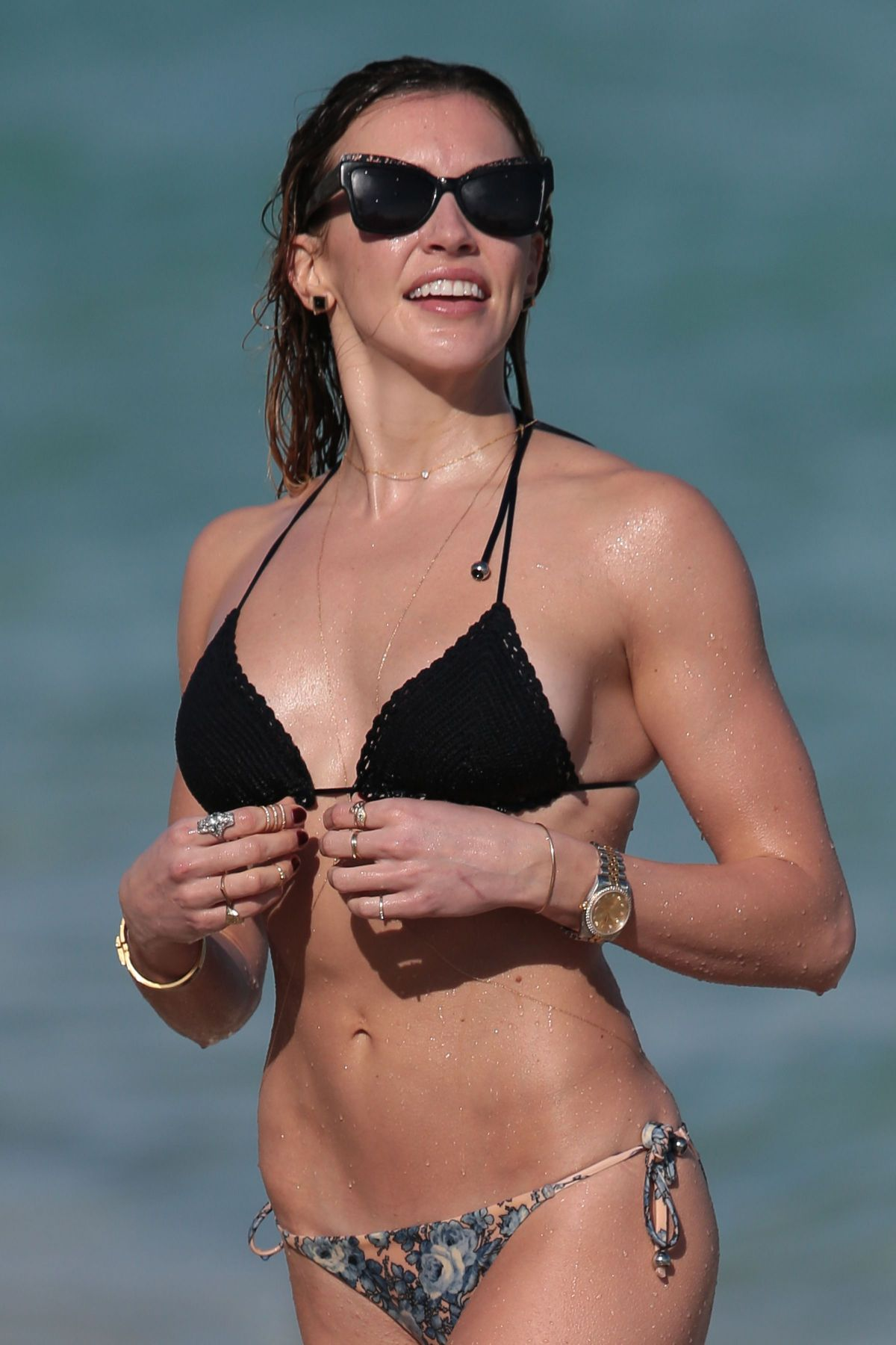 KATIE CASSIDY in Bikini on the Beach in Miami – HawtCelebs