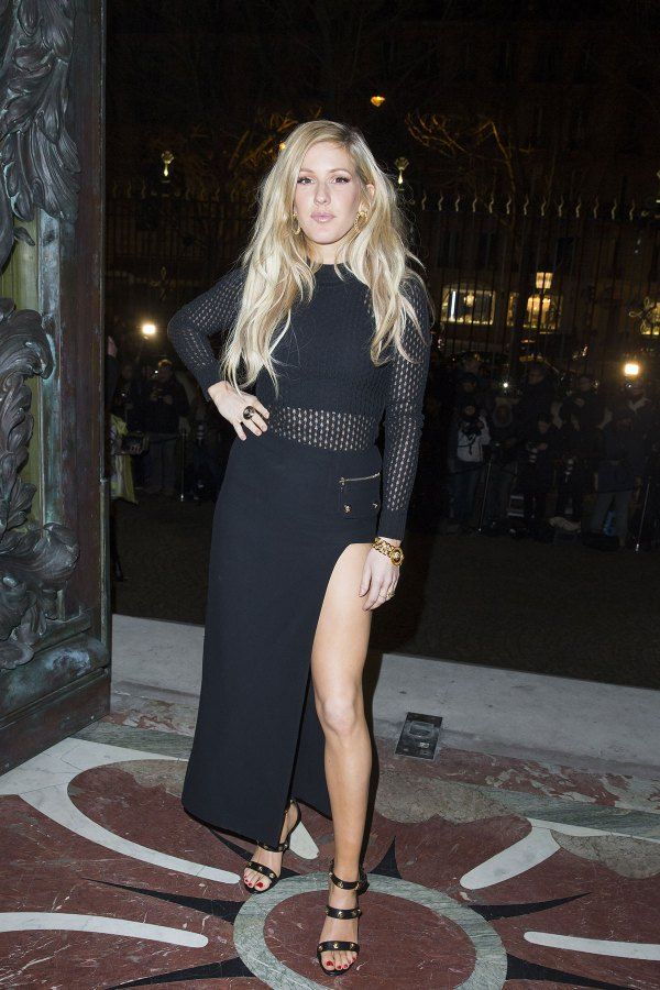 Ellie Goulding Versace Fashion Show In Paris Hawtcelebs