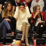 Khloe Kardashian Kendall Jenner And Cara Delevingne At A Basketball Game Hawtcelebs