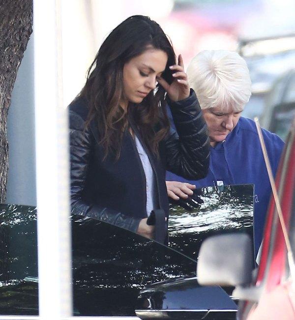Mila Kunis And Ashton Kutcher Visiting Family In Hollywood - Hawtcelebs