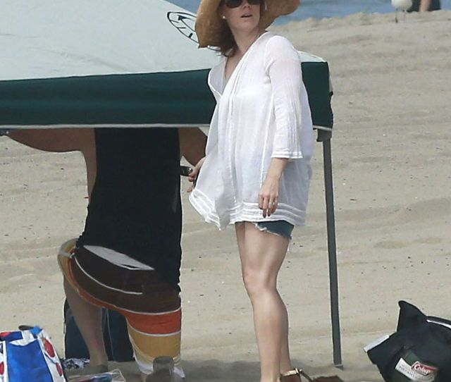 Amy Adams In Bikini Bottoms On The Beach In Los Angeles