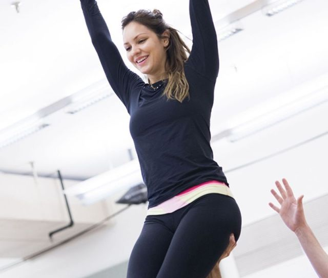 Katharine Mcphee At Bombshell Rehearsal In New York