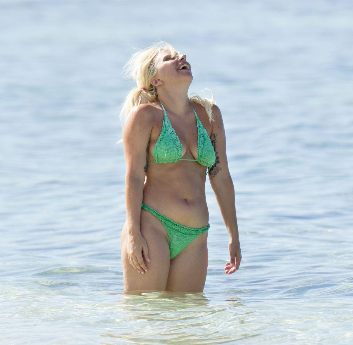 LADY GAGA in Bikini at a Beach in Bahamas 06182015