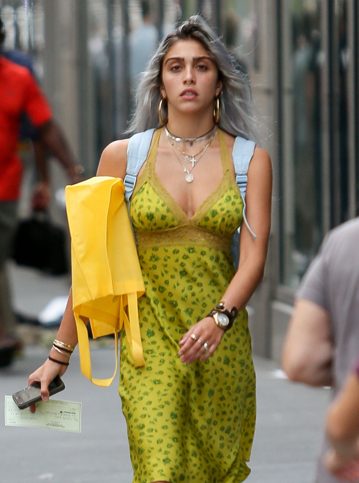 LOURDES LEON Out And About In New York 08/27/2015 - HawtCelebs