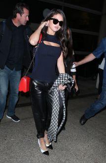Selena Gomez LAX Airport 2015