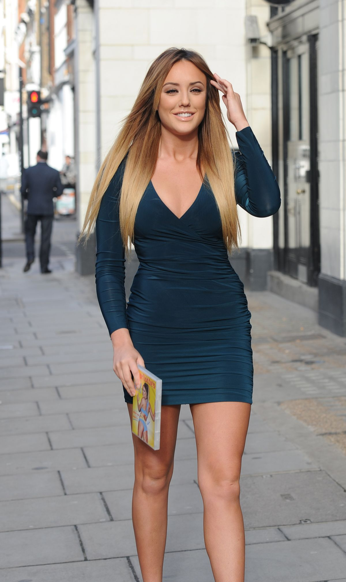 CHARLOTTE CROSBY Promotes Her Fitness DVD in London 0104