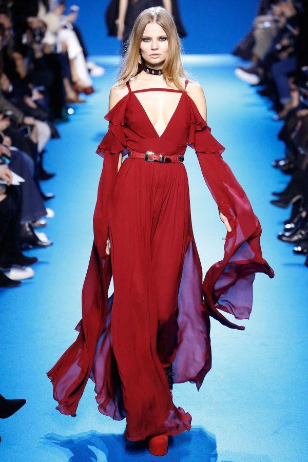 Magdalena Frackowiak Elie Saab Fashion Show In Paris 03
