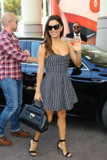 Eva Longoria Cannes Hotel Martinez In