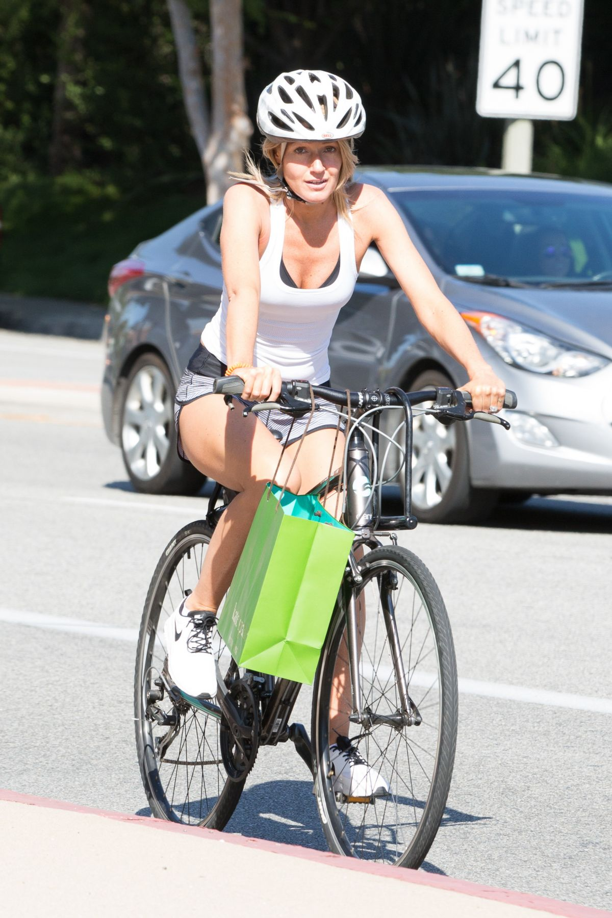 Hayley Roberts Riding A Bike Out In Calabasas 06 16
