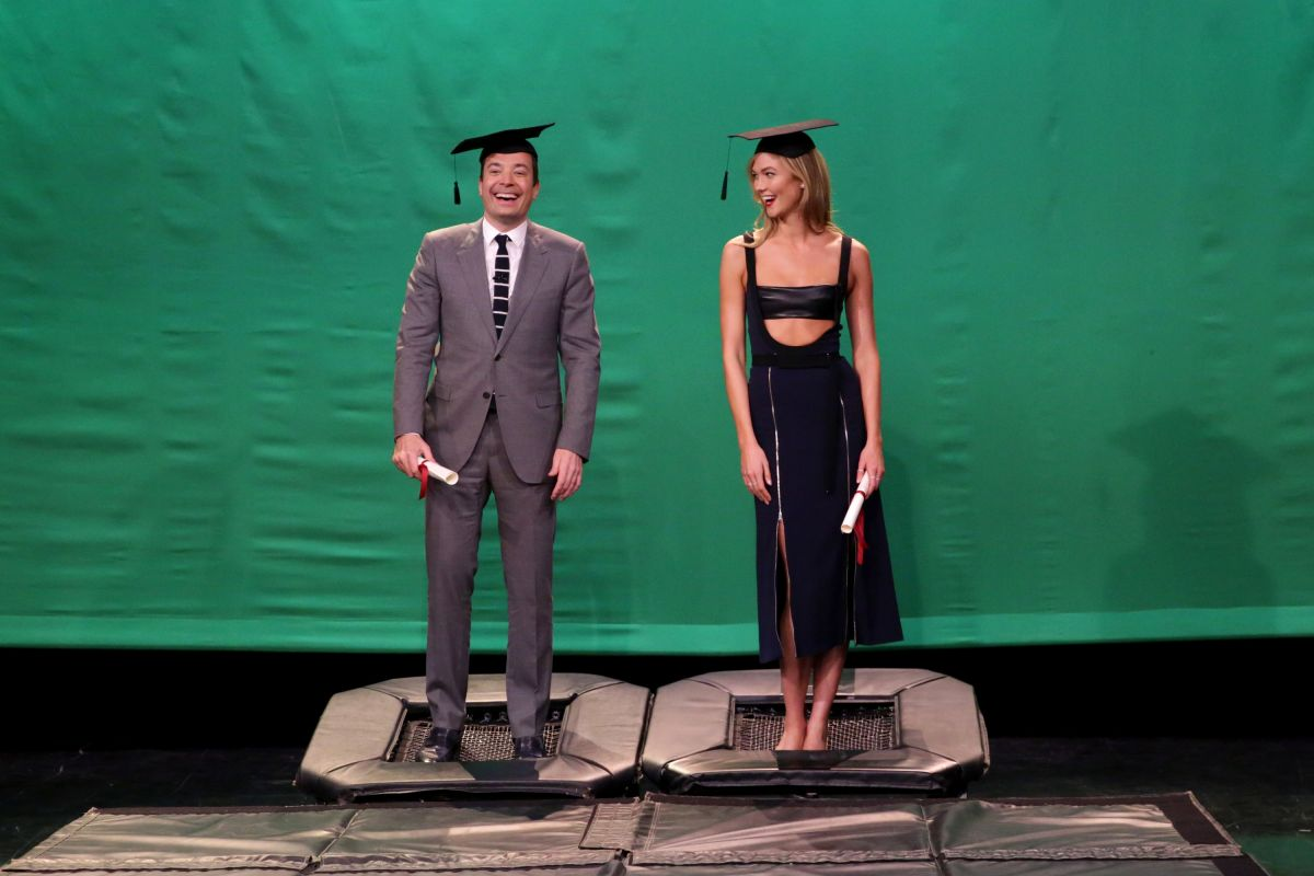 KARLIE KLOSS At Tonight Show Starring Jimmy Fallon In New