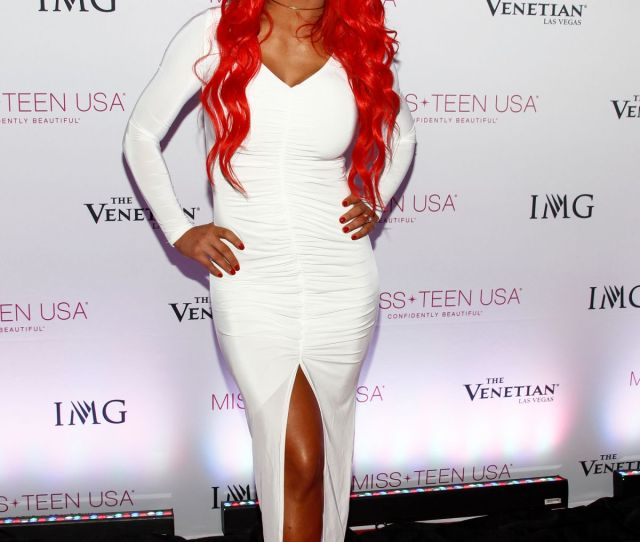 Eva Marie At  Miss Teen Usa Competition In Las Vegas