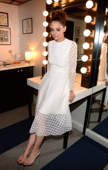 Katie Holmes Backstage Tonight Show In York 03