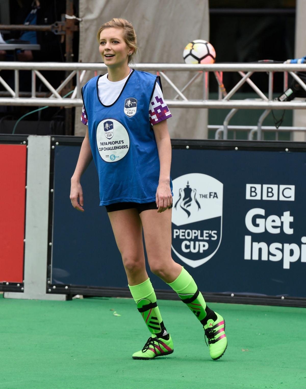 Rachel Riley At 12hr Soccer Challenge In Manchester 03 23
