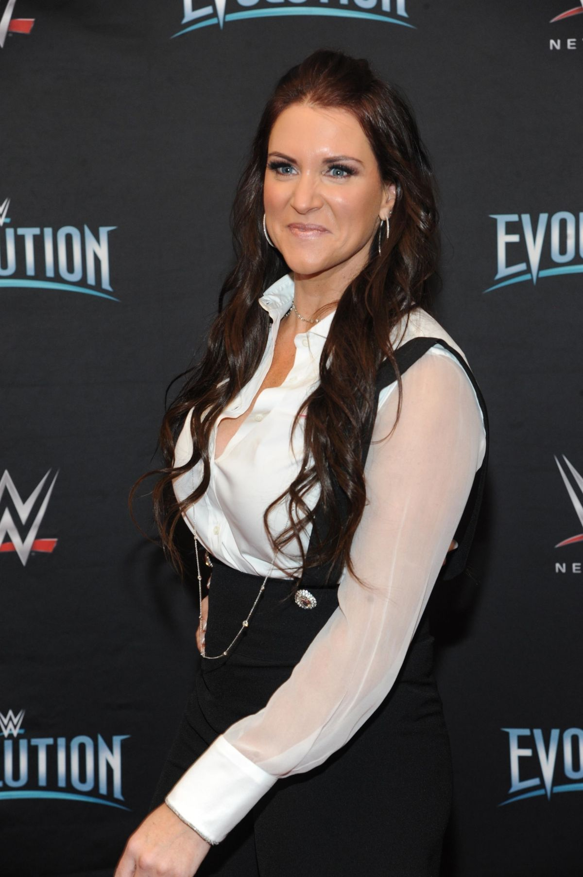 Stephanie Mcmahon At Wwes First Ever All Womens Event Evolution In Uniondale