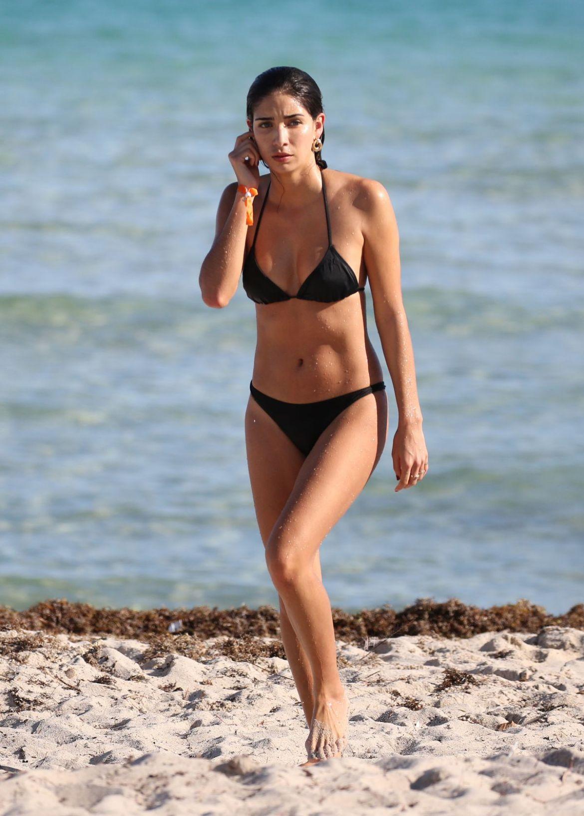 BIANCA PETERS in Bikini at a Beach in Miami 01/08/2019
