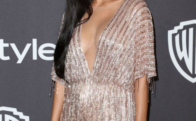 Nicole Scherzinger At Instyle And Warner Bros Golden Globe