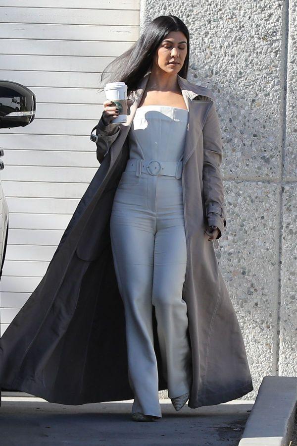 Kourtney Kardashian Leaves Kanye West Studio In Los