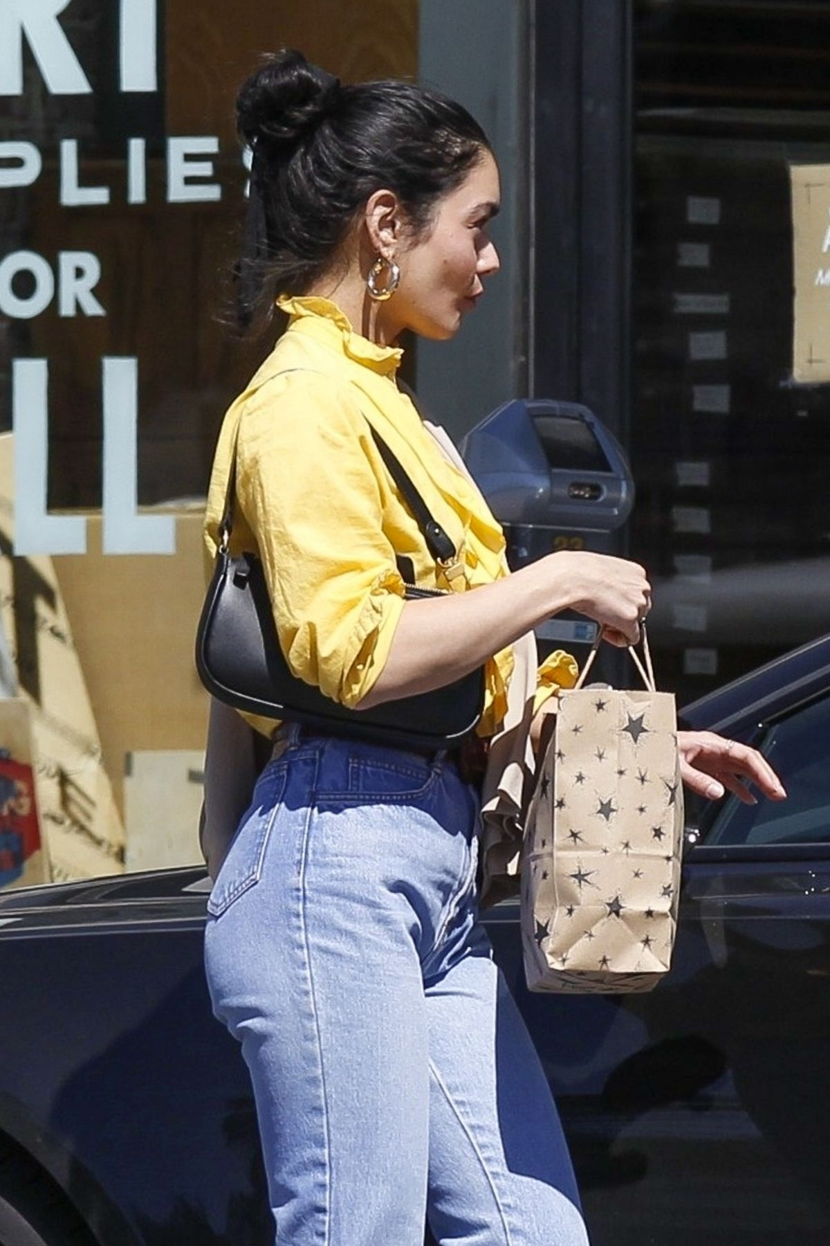 VANESSA HUDGENS In Denim Out Shopping In Hollywood 03142019 HawtCelebs